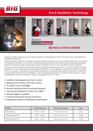 Fire & Ventilation Technology Barriera al fumo mobile - Big Tempest
