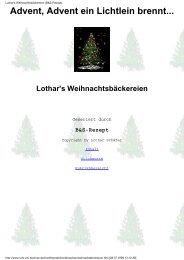 Lothar's Weihnachtsbäckereien (B&S-Rezept)