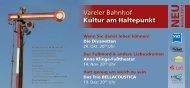 Flyer Kultur am Haltepunkt 2. Halbjahr 2013
