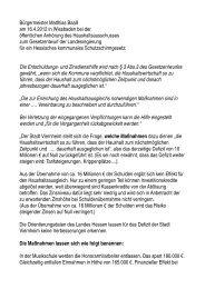 Stellungnahme Bürgermeister Matthias Baaß bei der ... - Viernheim