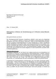 IV-Revision 6a - Arbeitsgemeinschaft Schweizer Sozialfirmen
