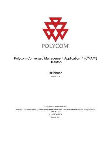 Polycom CMA Desktop-Hilfebuch