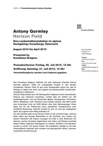 Antony Gormley Horizon Field