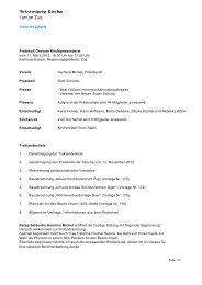 Protokoll der Sitzung vom 11. März 2013 - Reformierte Kirche Zug