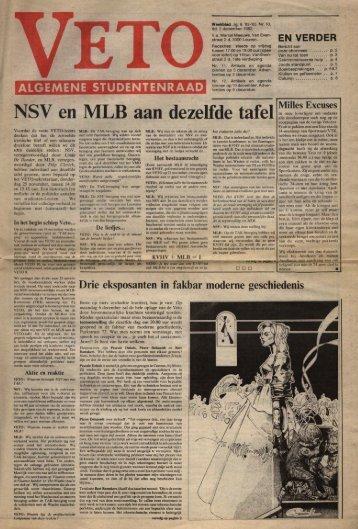 NSV en MLB aan dezelfde tafel In onze (over)ijver ... - archief van Veto