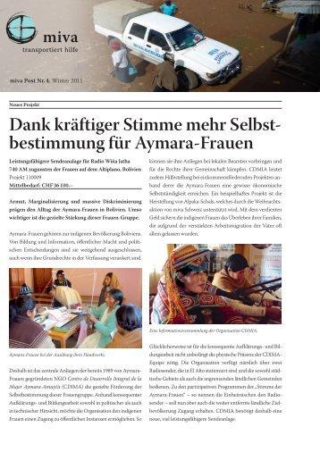 Dank kräftiger Stimme mehr Selbst- bestimmung für ... - miva Schweiz