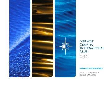 ACI-Marinas Preisliste 2012