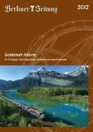 Goldener Ahorn durch Kanada - Leserreisen