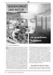 BUDDHISMUS UND NATUR ein gespaltenes Verhältnis