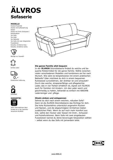 ÄLVROS Sofa.pdf (0.54 MB) - Ikea