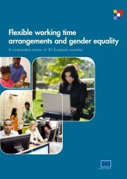 Flexible working time arrangements and gender equality - European ...
