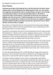 Das Magnificat - Cornerstone-Gemeinde Linz