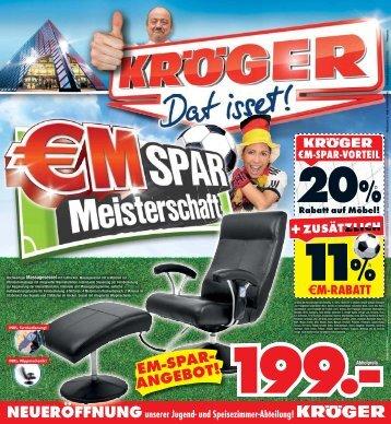 EM-SPAR- ANGEBOT! - Möbel-Kröger - Die Weltstadt des Wohnens