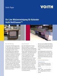 On-Line Walzenreinigung für Kalander Voith RollCleaner™