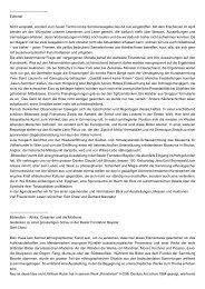 Editorial Nicht verspätet, sondern zum neuen ... - Haus der Völker