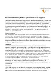 Forår 2010 - University College Sjælland