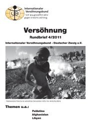 Rundbrief 4/2011 - Internationaler Versöhnungsbund