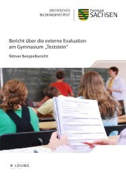 Bericht über die externe Evaluation am Gymnasium ... - Bildung