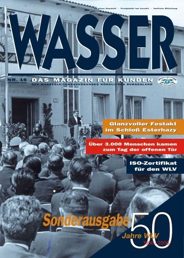 Sonderausgabe - Wasserleitungsverband Nördliches Burgenland