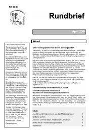 Rundbrief April 2004 [pdf] - Eine Welt Netzwerk Hamburg eV