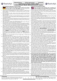 Anbauanleitung Fitting Instructions Istruzione - Wunderlich
