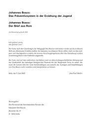 Johannes Bosco: Das Präventivsystem in der Erziehung der Jugend ...