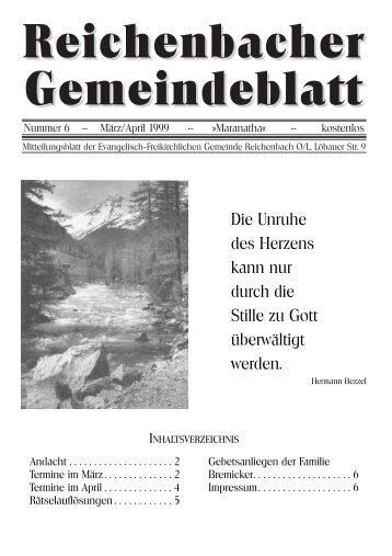 Nr. 6 März-April 1999 - bei der EFG Reichenbach