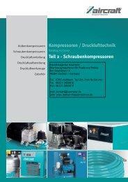 Kompressoren / Drucklufttechnik Teil 2 - Schraubenkompressoren