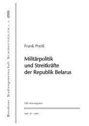 Militärpolitik und Streitkräfte der Republik Belarus - DSS