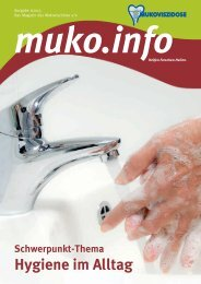 Hygiene im Alltag (PDF) - Mukoviszidose e.V.