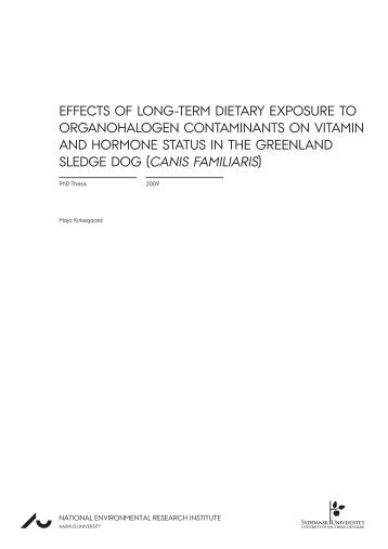 Effects of long-term dietary exposure to organohalogen