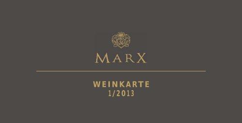 WEINKARTE 1/2013 - Weingut Marx aus Windesheim