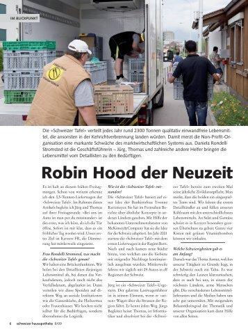 Robin Hood der Neuzeit - Schweizer Tafel