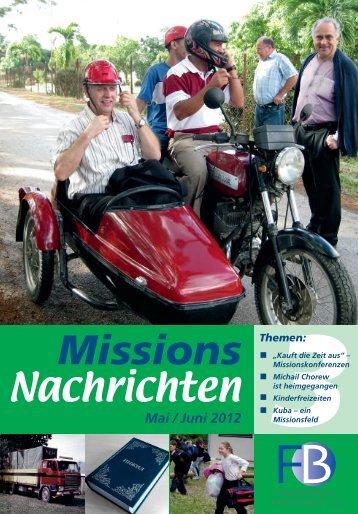 Nachrichten 2012-3 - Missionswerk FriedensBote