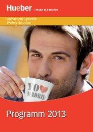 Programm 2013 - Hueber