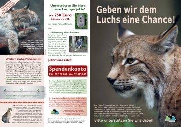 Geben wir dem Luchs eine Chance! - Naturschutzbund