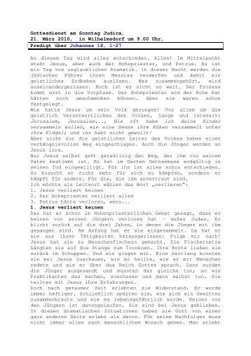 21.03 Johannes 18, 1-27 Judica (PDF) Pfr