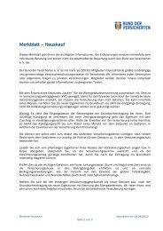 Merkblatt – Hauskauf - Bund der Versicherten e.V.