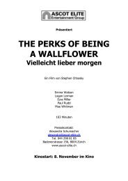 Presseheft_THE PERKS OF BEING A WALLFLOWER - Ascot Elite ...
