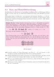 6.4 Kurs- und Rentabilitätsrechnung Aufgaben - arthur