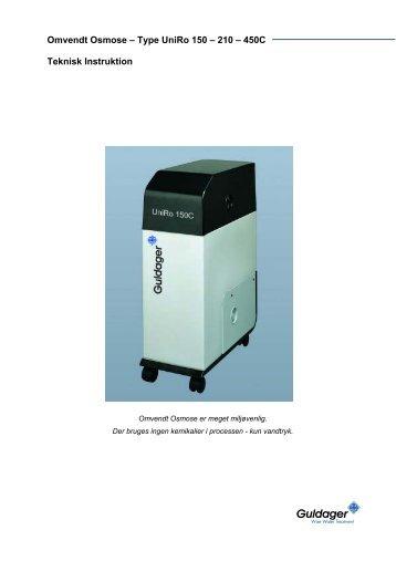 UniRO 150 C Instruktion - Guldager