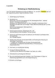 Einladung zur Stadtratssitzung - Lohr a. Main