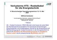 Verlustarme HTS - Roebelkabel für die Energietechnik - Technische ...