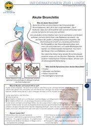 Fachinformation Akute Bronchitis - Lungeninformationsdienst