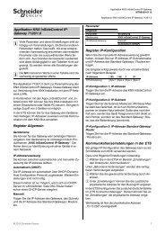 Register Allgemein Register IP-Konfiguration ... - Schneider Electric