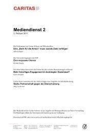 Mediendienst 2 - CARITAS - Schweiz