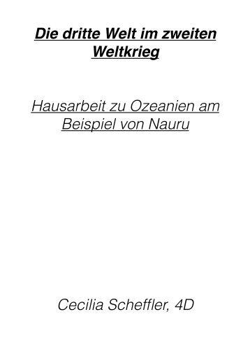 Hausarbeit Ozeanien CS - Abendgymnasium Frankfurt