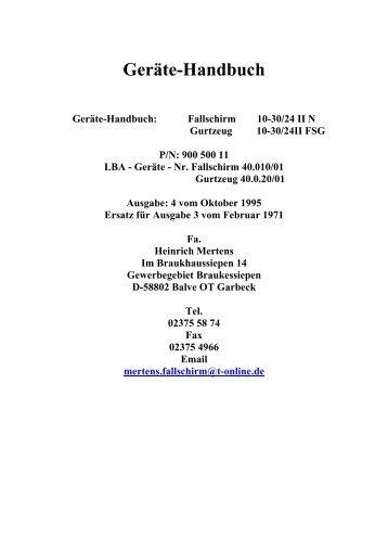 Geräte-Handbuch - Heinrich Mertens