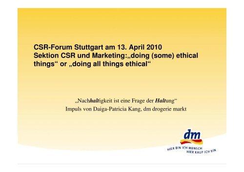 CSR-Forum_Nachhaltigkeit eine Frage der Haltung - Deutsches CSR-Forum