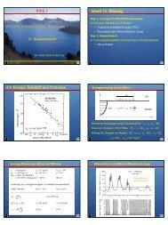13. Gasaustausch I - Institut für Umweltphysik